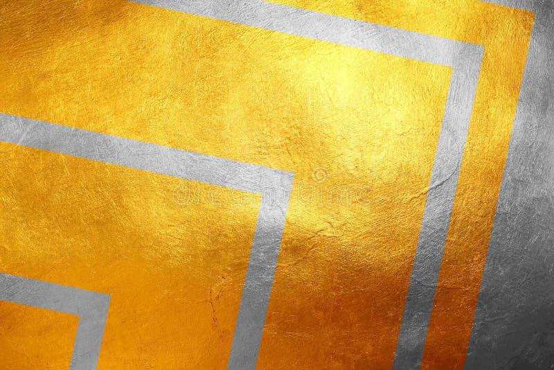 Fondo astratto lussuoso creativo/unico del modello grungy brillante di struttura dell'argento e dell'oro, Elemento di disegno fotografia stock libera da diritti