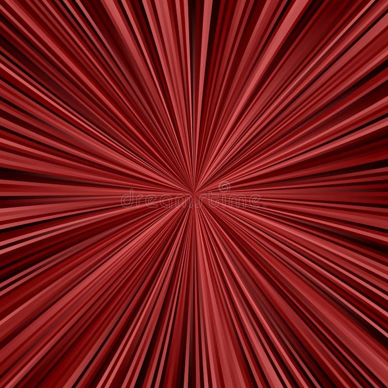 Fondo astratto marrone rossiccio scuro di progettazione del raggio illustrazione di stock