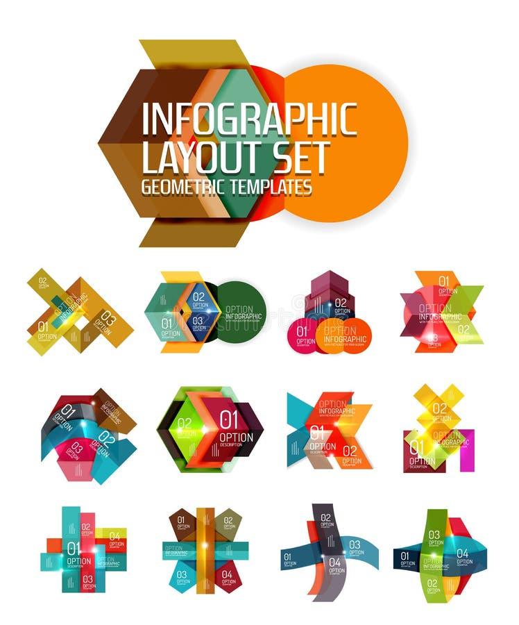 Fondo astratto, modelli infographic geometrici di opzione royalty illustrazione gratis