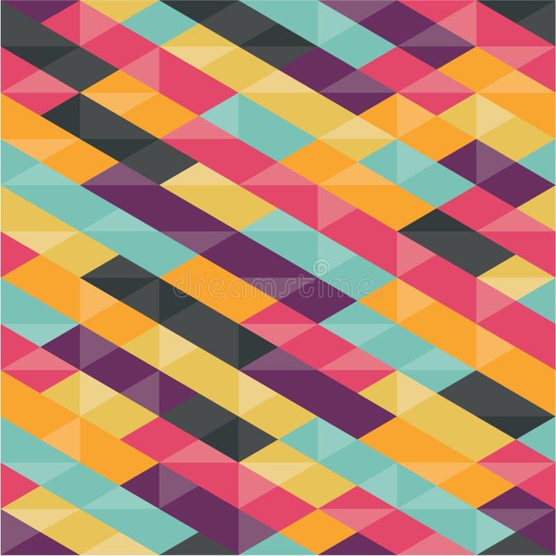 Fondo astratto - modello senza cuciture geometrico royalty illustrazione gratis