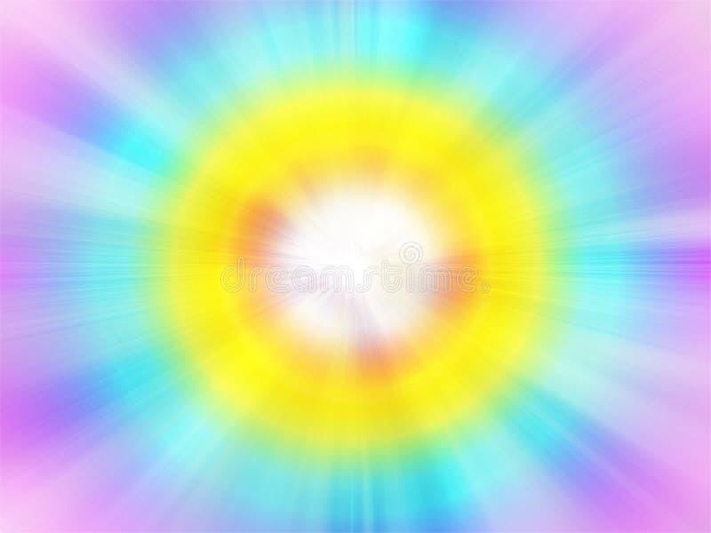 Fondo astratto multicolore che illustra il portale nella quinta dimensione immagini stock