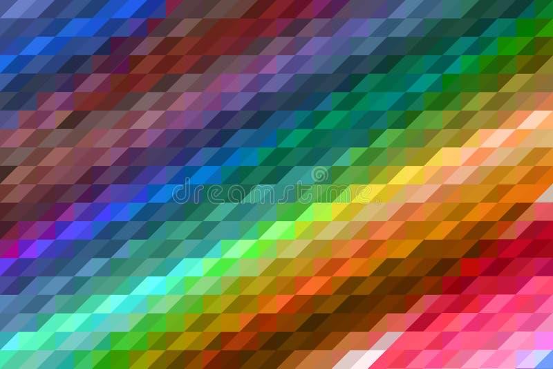 Fondo astratto multicolore con effetto del mosaico royalty illustrazione gratis