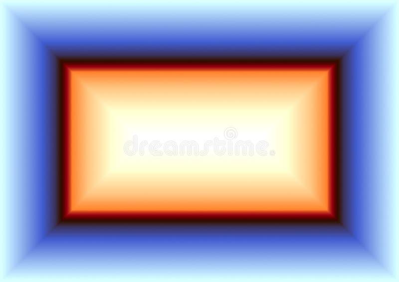 Fondo astratto nei toni arancio e blu illustrazione vettoriale