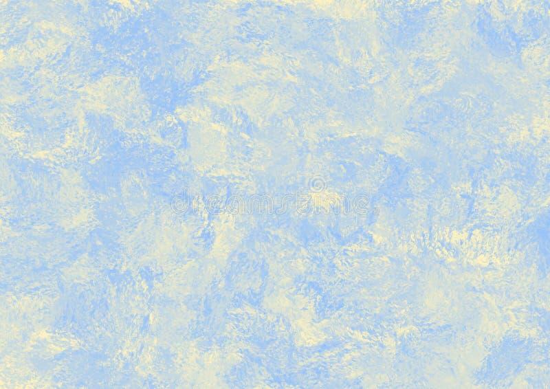 Fondo astratto nei toni beige e blu illustrazione vettoriale