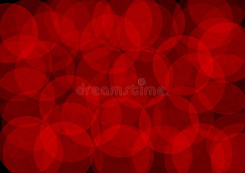 Fondo astratto nei toni rossi e neri illustrazione vettoriale
