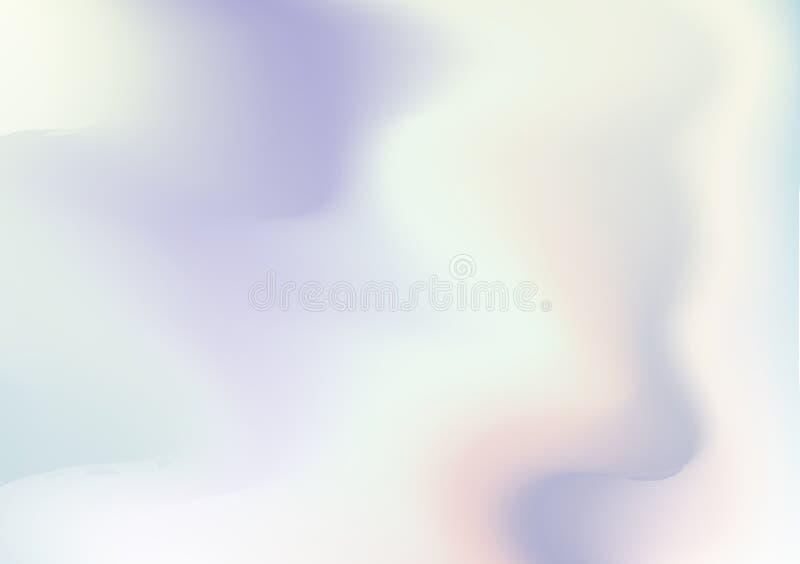 Fondo astratto olografico Contesto olografico variopinto con la maglia di pendenza 90s, retro stile 80s Grafico Pearlescent illustrazione di stock