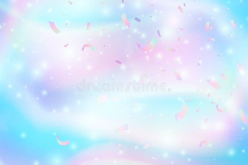 Fondo astratto olografico d'avanguardia con la maglia di pendenza Struttura iridescente Illustrazione di vettore per il vostro cr illustrazione vettoriale