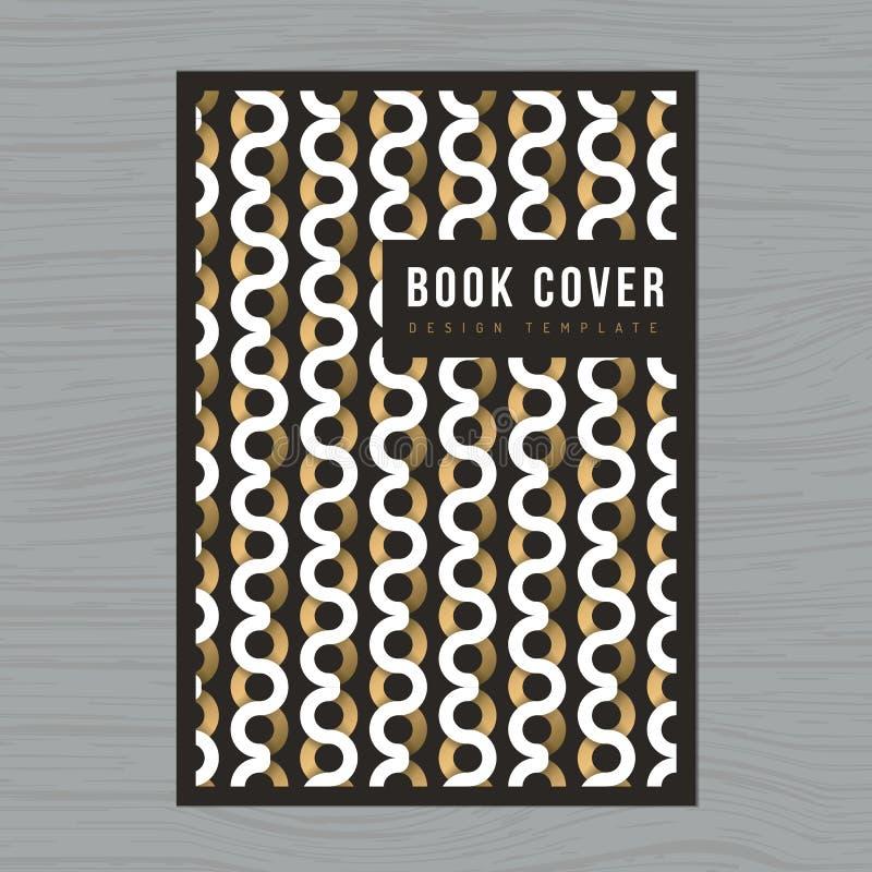 Fondo astratto per la copertina di libro, manifesto, aletta di filatoio, opuscolo, corporativo, modello della disposizione di pro illustrazione vettoriale