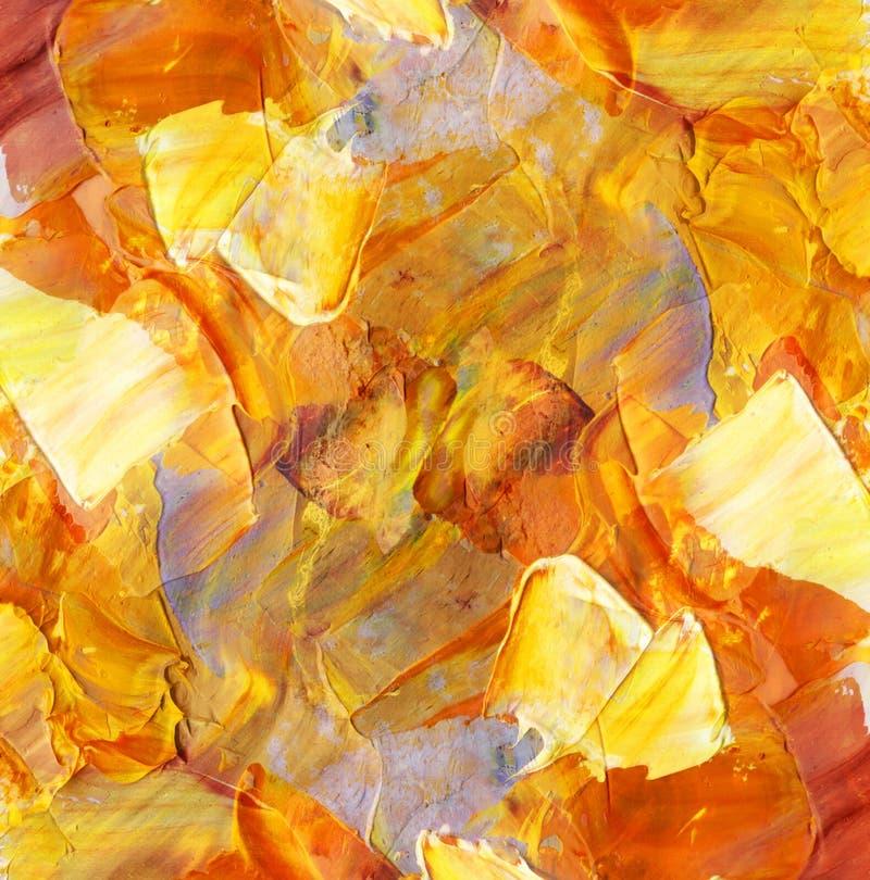 Fondo astratto, pitture ad olio illustrazione vettoriale