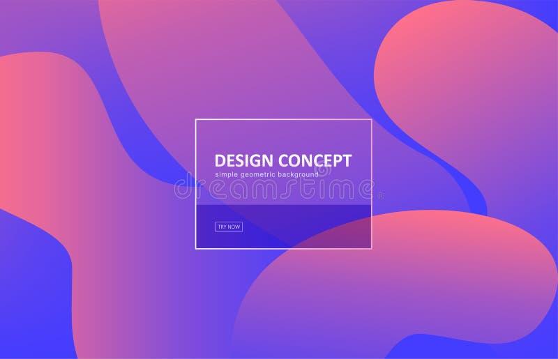 Fondo astratto, progettazione geometrica di vettore di forma di pendenza Modello grafico nello stile minimo Contesto dinamico di  royalty illustrazione gratis
