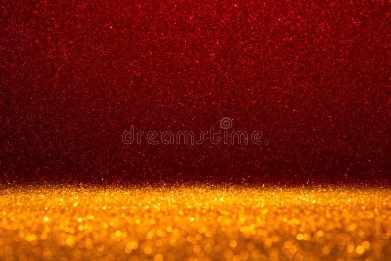 Fondo astratto riempito di scintillio rosso brillante immagini stock