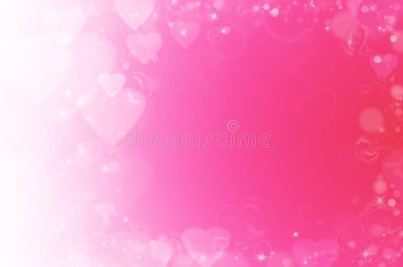 Fondo astratto rosa con cuore fotografia stock
