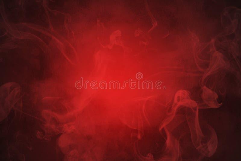 Fondo astratto rosso del fumo royalty illustrazione gratis