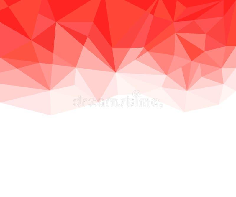 Fondo astratto rosso e bianco geometrico di vettore per uso nella progettazione immagine stock libera da diritti
