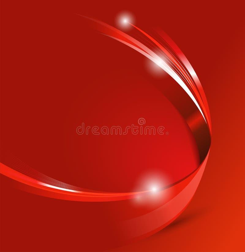 Fondo astratto rosso universale di vettore con effetto 3D illustrazione di stock