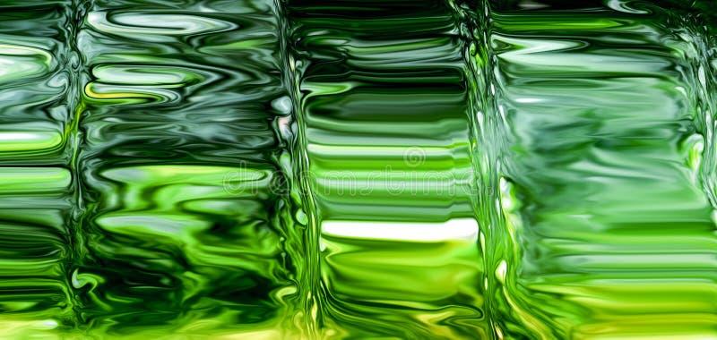 Fondo astratto a schermo pieno di vetro verde fotografie stock libere da diritti