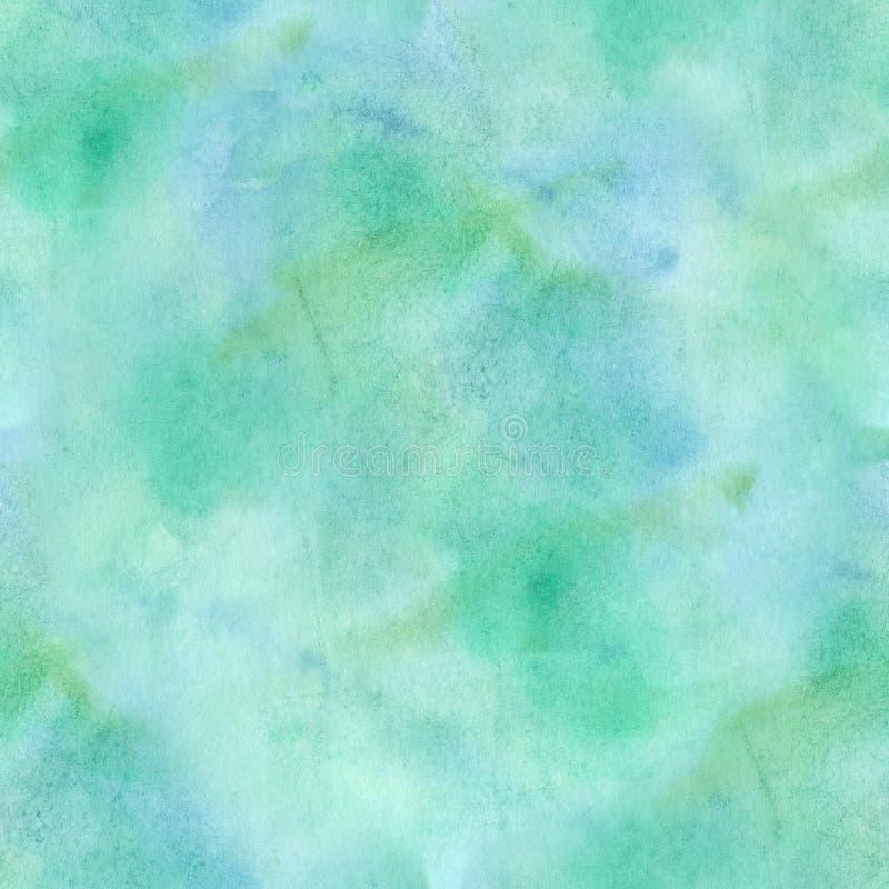 Fondo astratto senza cuciture di verde/blu acquerello illustrazione vettoriale