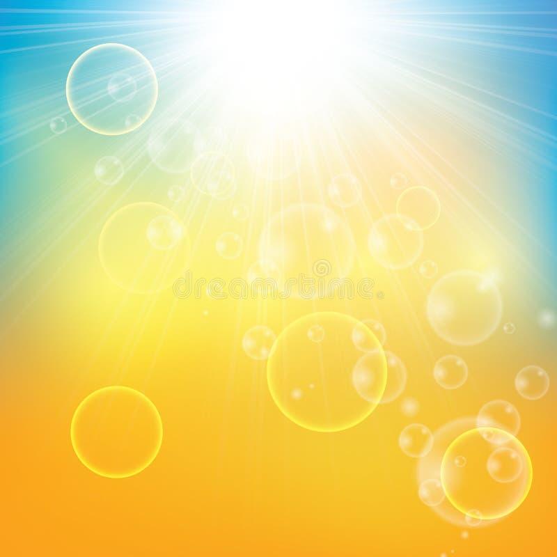 Fondo astratto soleggiato del raggio del sole royalty illustrazione gratis