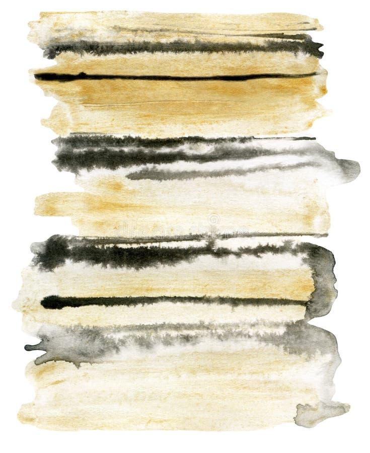 Fondo astratto a strisce dell'acquerello illustrazione vettoriale