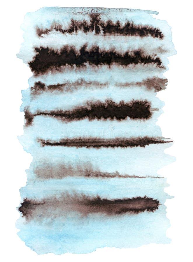 Fondo astratto a strisce dell'acquerello illustrazione di stock