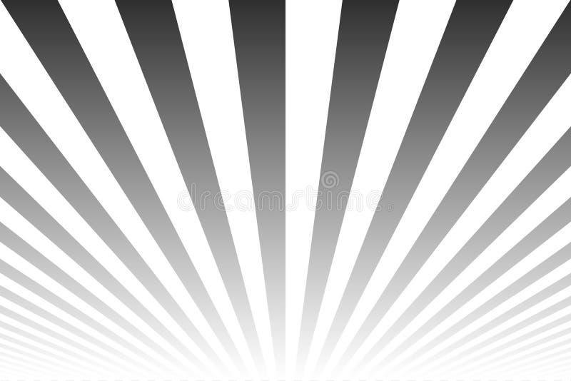 Fondo astratto a strisce di lustro di incandescenza Simile al retro manifesto Righe in bianco e nero reticolo illustrazione di stock