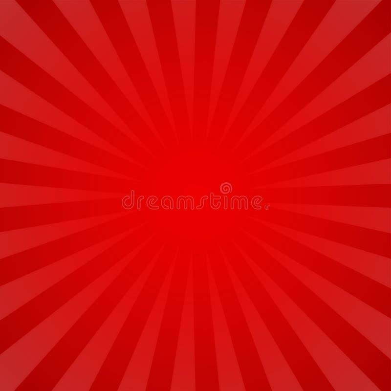 Fondo astratto a strisce di vettore Modello insolito rosso simile al retro manifesto illustrazione vettoriale