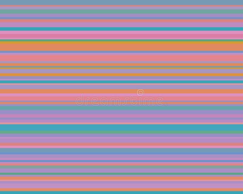 Fondo astratto a strisce variopinto, bande variabili di larghezza illustrazione di stock