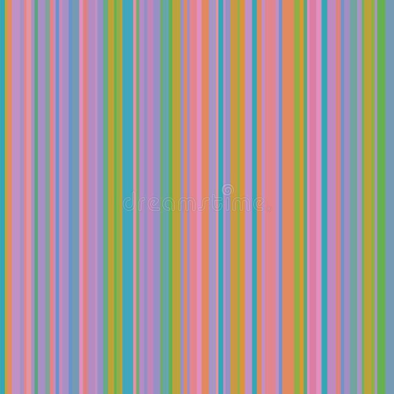 Fondo astratto a strisce variopinto, bande variabili di larghezza illustrazione vettoriale