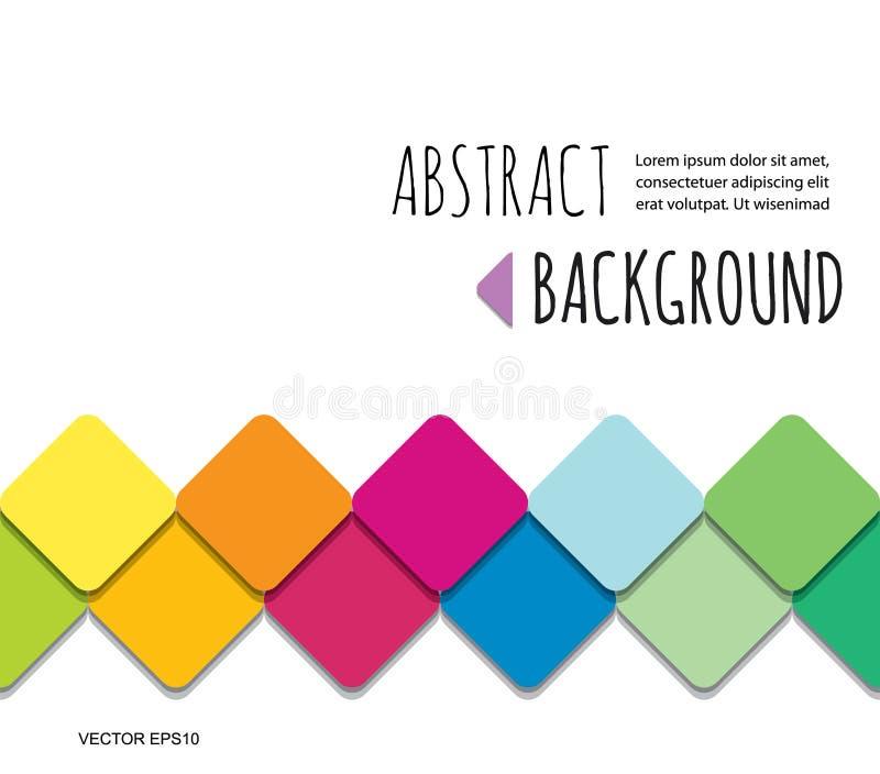 Fondo astratto tagliato carta del mosaico 3d Per la presentazione di affari, gli opuscoli, manifesti progettano royalty illustrazione gratis