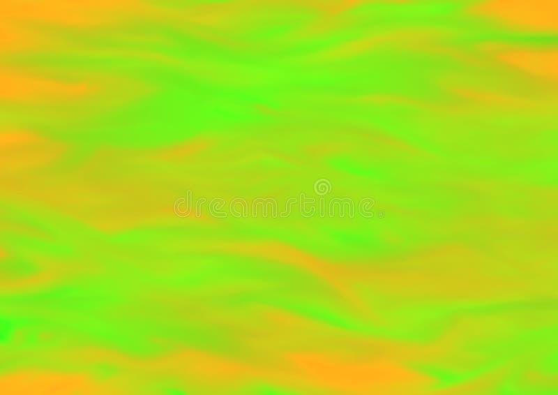 Fondo astratto vago variopinto nei toni verdi ed arancio royalty illustrazione gratis