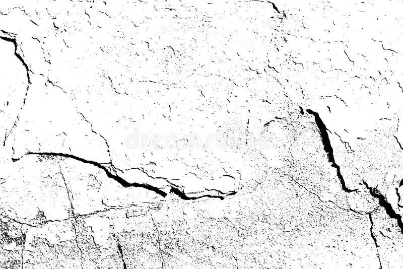 Fondo astratto, vecchia parete incrinata Struttura dettagliata di lerciume di vettore illustrazione di stock