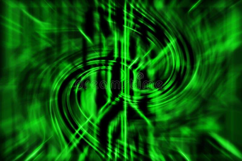 Fondo astratto verde di tecnologia con le linee della curva illustrazione vettoriale