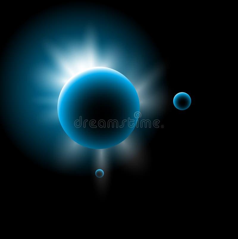 Fondo astronómico del espacio stock de ilustración