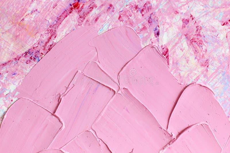 Fondo atristic abstracto del aceite Aceites en lona fotografía de archivo