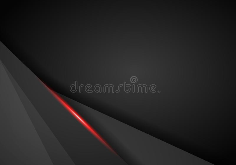 Fondo automotriz de cuero de Chrome CCB metálico negro y rojo libre illustration