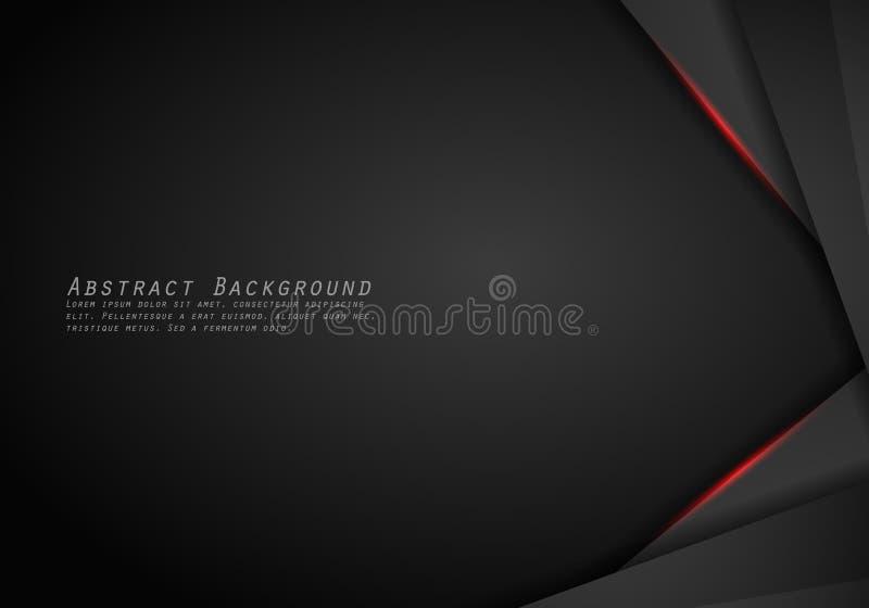 Fondo automotriz de cuero de Chrome Fondo metálico negro y rojo Ilustración del vector libre illustration