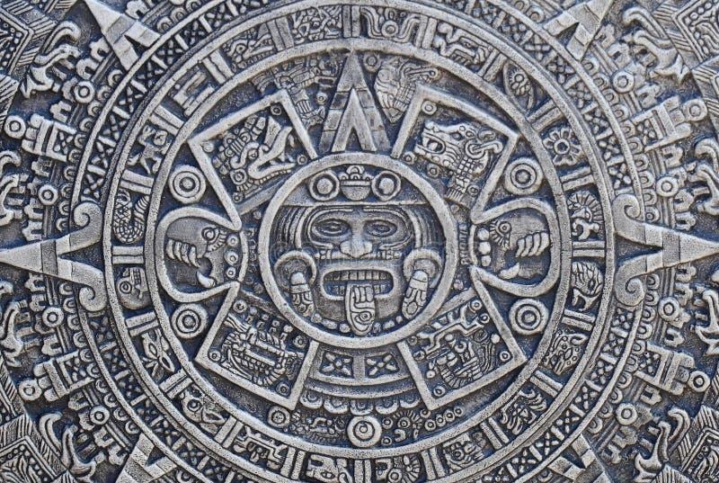 Fondo azteca de la historia fotografía de archivo