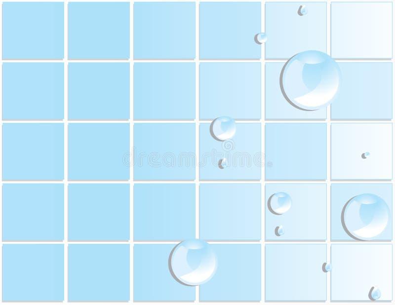 Fondo azul 3 de gotita de agua del azulejo libre illustration