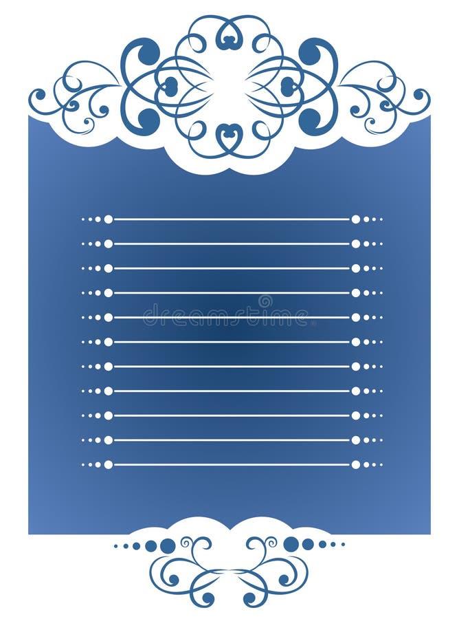 Download Fondo azul ilustración del vector. Ilustración de extracto - 7282783