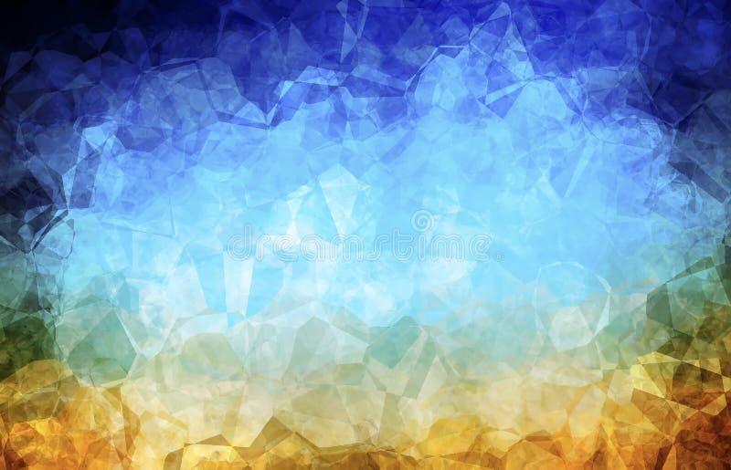 Fondo azul abstracto. stock de ilustración