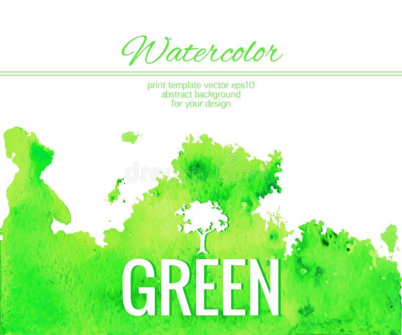 Fondo azul abstracto colorido de la acuarela Contexto creativo moderno para el diseño de moda Ilustración del vector stock de ilustración