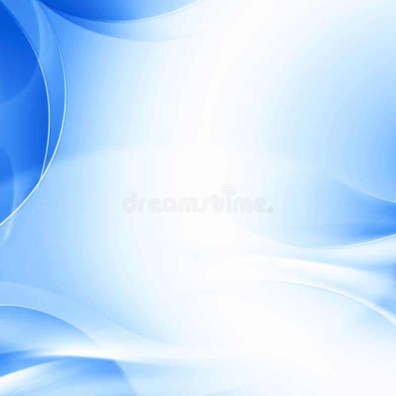 Fondo azul abstracto con las ondas, concepto del diseño del negocio ilustración del vector