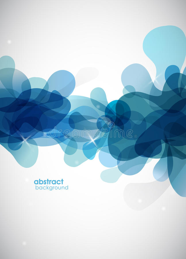 Fondo azul abstracto con los círculos. ilustración del vector