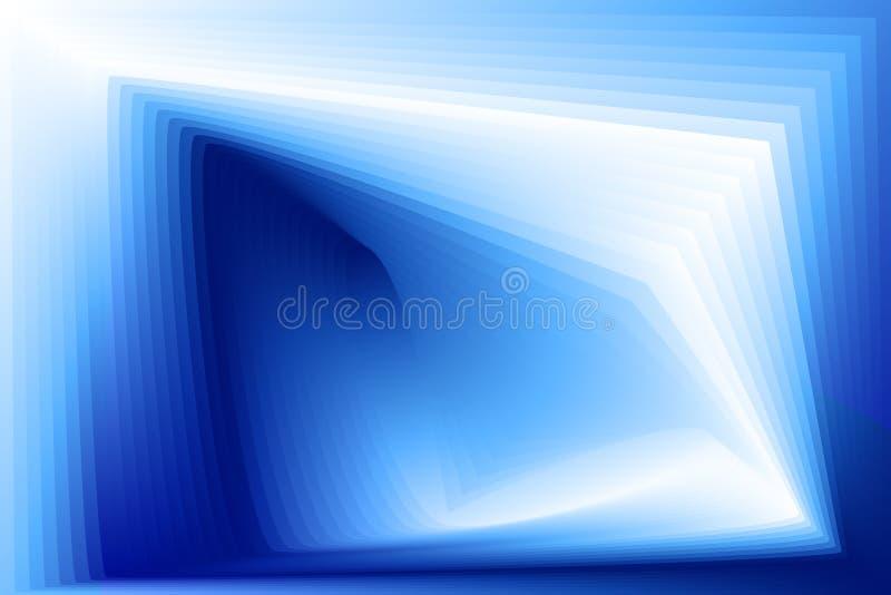 Fondo azul abstracto con pendiente geométrica ilustración del vector