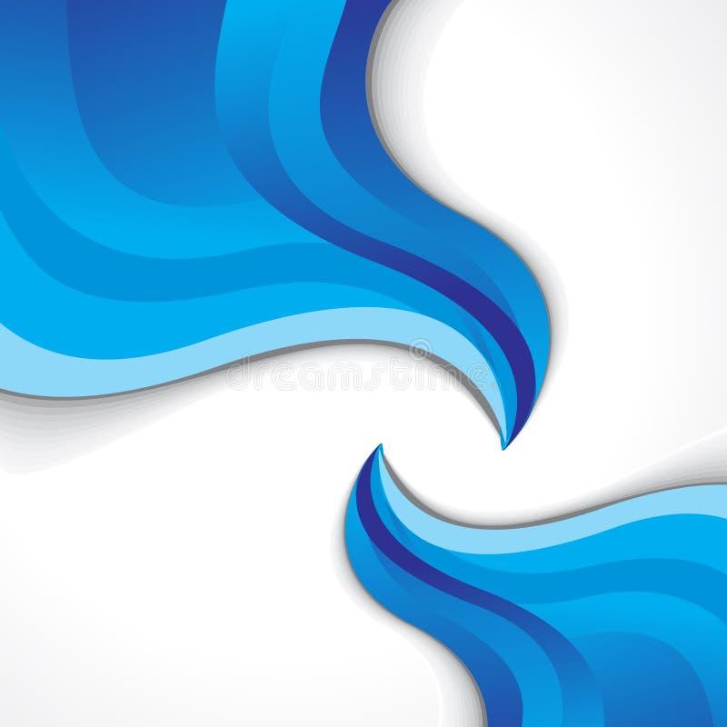 Fondo azul abstracto de la onda libre illustration
