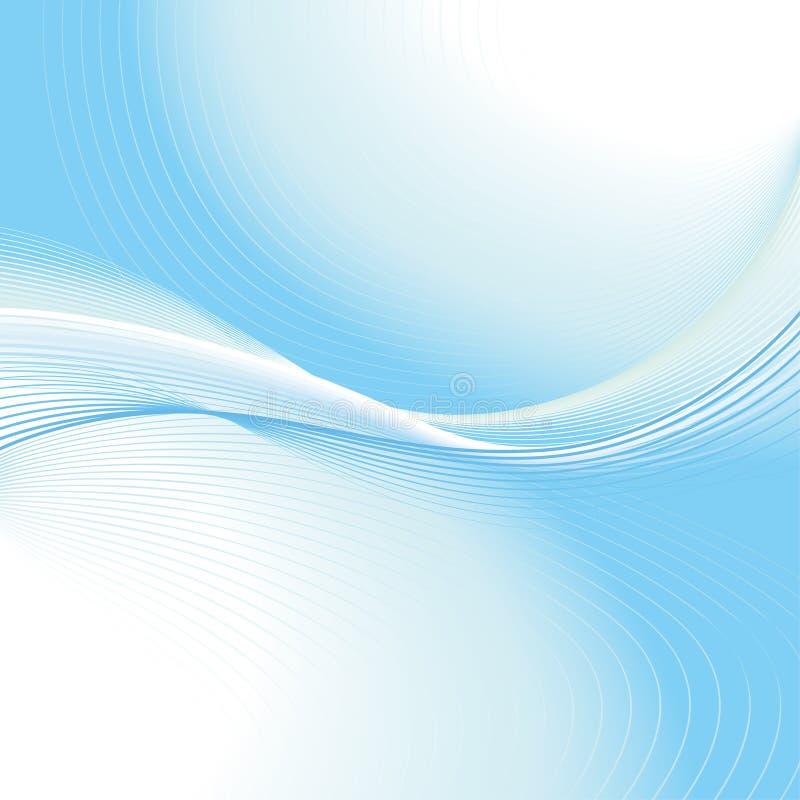 Fondo azul abstracto de la onda ilustración del vector