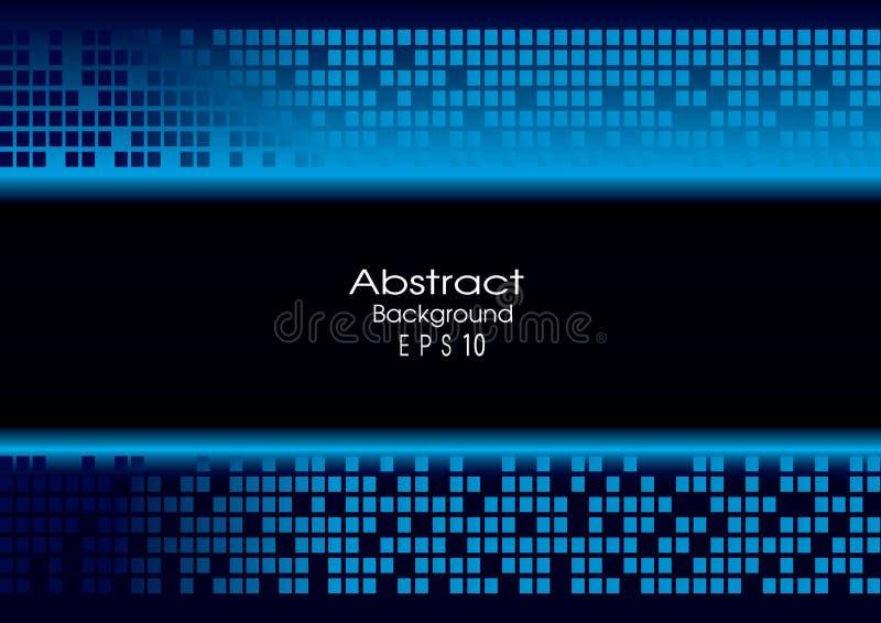 Fondo azul abstracto de la tecnología stock de ilustración