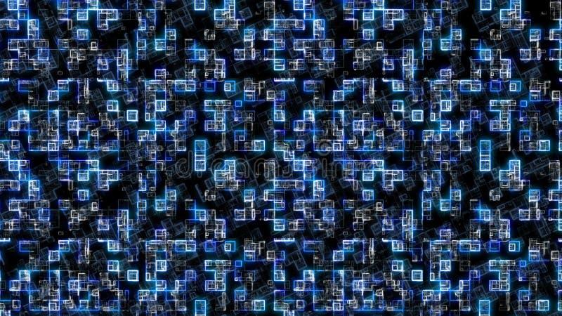 Fondo azul abstracto Fondo de la tecnología, del mejor concepto de la serie de negocio global ilustración 3D ilustración del vector