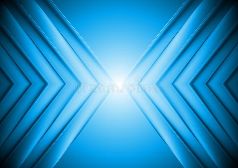 Fondo azul brillante de la tecnología ilustración del vector