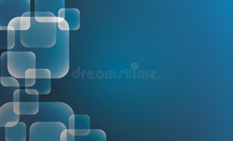 Fondo azul abstracto de los fondos de los cuadrados con el espacio vacío stock de ilustración
